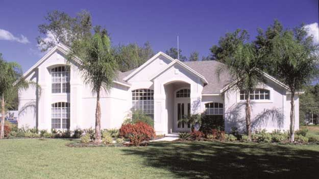 Large bonus room upstairs offers extra space in this 4 for Large mediterranean house plans
