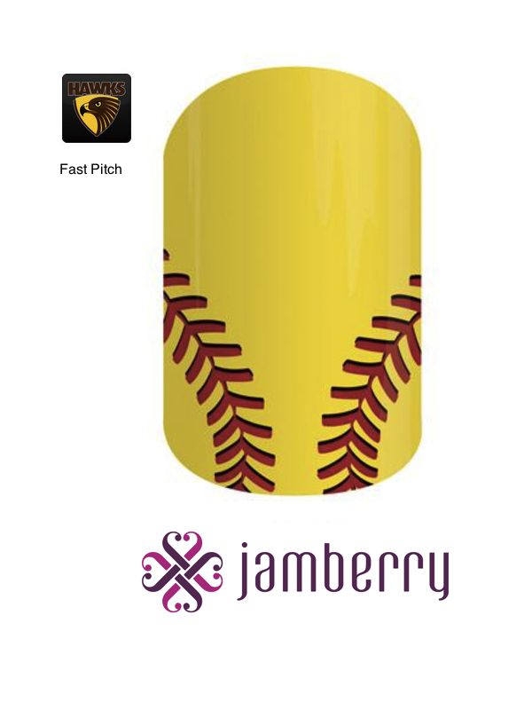 Jamberry Hawks Inspiration - Fast Pitch
