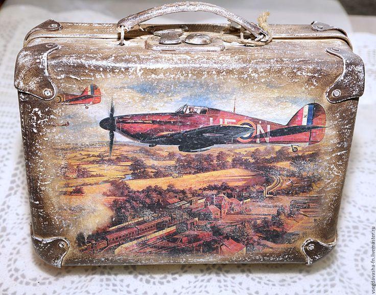 """Купить Небольшой чемоданчик """" АВИАТОР """" редкого размера! Маленький! - чемодан, чемоданчик, для украшений"""
