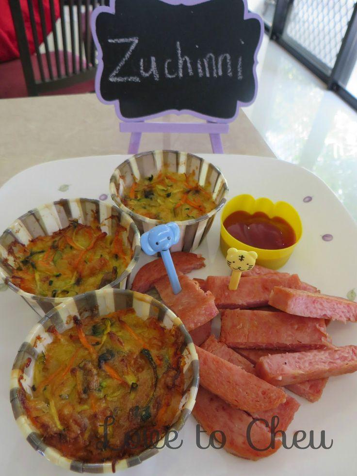 Love to Cheu: Baked Vegetarian Zuchinni Cups