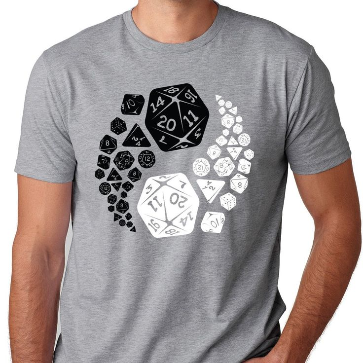 Roll the dice for both good and evil with this Dungeons and Dragons tshirt, only from Guerrilla Tees