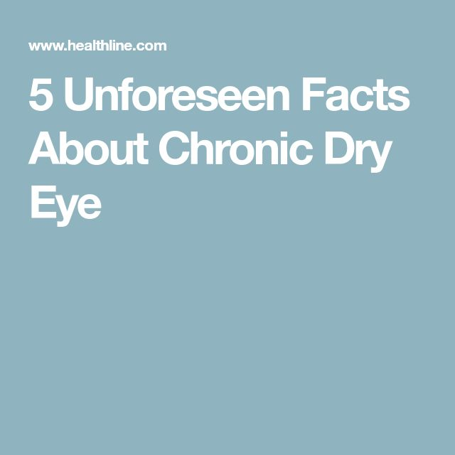 5 Unforeseen Facts About Chronic Dry Eye