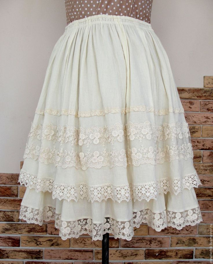 Купить Юбка летняя для настоящей принцессы 2 - юбка летняя хлопок, женская юбка с кружевом