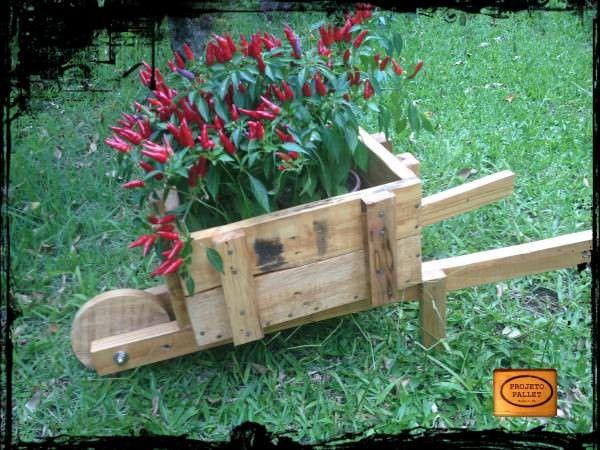 Pallet Wheelbarrow Planter Planters & Compost