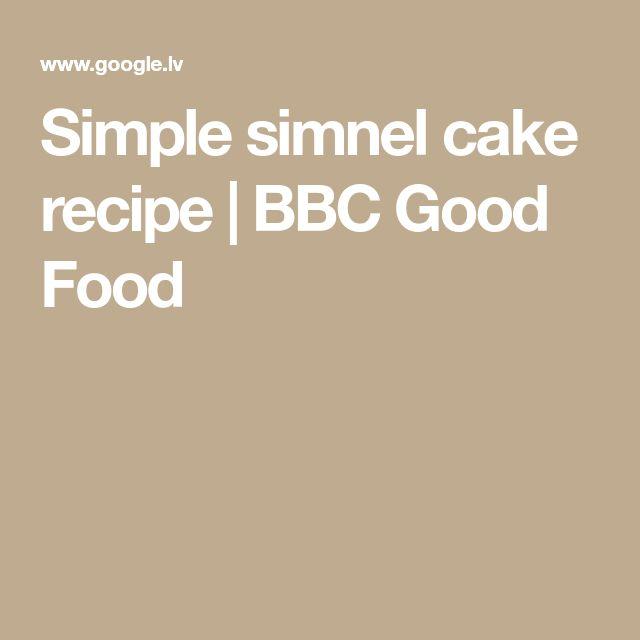 Simple simnel cake recipe | BBC Good Food