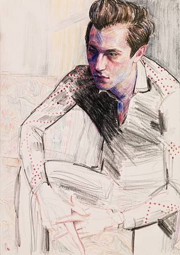 Elisabeth Peyton, Mark (Mark Ronson), 2009  Colored pencil on paper
