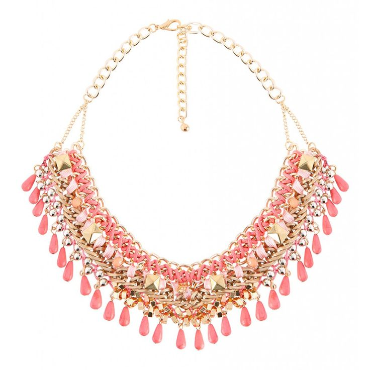 Rode statement ketting | Fashion Webshop