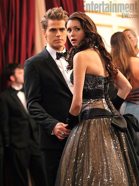 And the back of the dress.: Vampirediaries, The Vampires Diaries, Paul Wesley, Ball Gowns, Tvd, Danger Liaison, The Vampire Diaries, The Dresses, Nina Dobrev