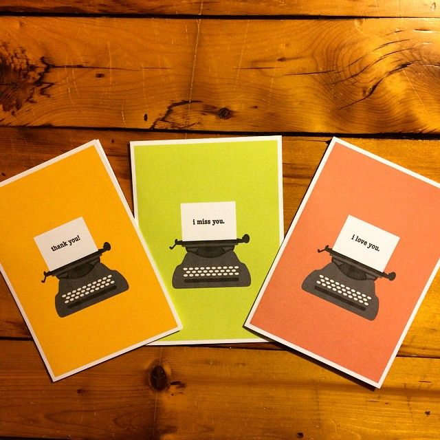 Freckled. Fun Gifts & Fine Paper - Typewriter Love Set (Sold Separately)