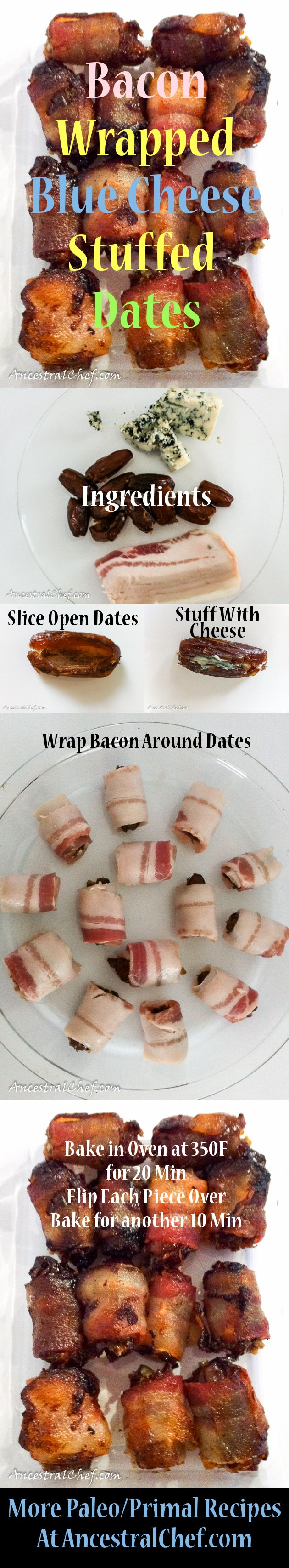 I have no idea who originally came up with this absolutely fabulous concoction, but she/he must have been a genius! I first had bacon wrapped blue cheese s
