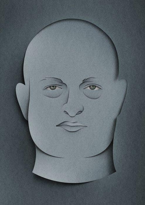 Portraits by Eiko Ojala, via Behance