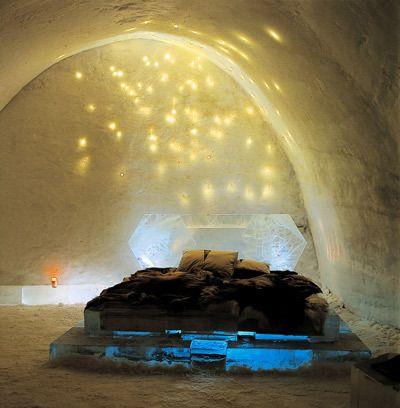 Ice bedroom-Kiruna, Sweden
