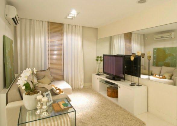 Tu Organizas.: Sala Pequena E Bem Aproveitada Em 10 Dicas · TvsMy FbTv RoomsAloha  BlackSmall Room DecorSmall Living ... Part 81