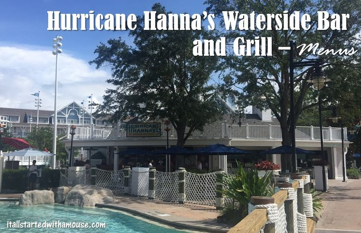Hurricane Hanna's Waterside Bar and Grill Menus #itallstartedwithamouse