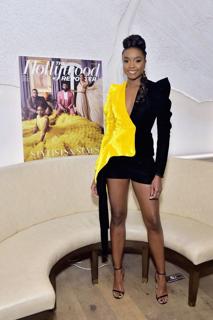 Kiki Layne Attends The Hollywood Reporter And Jimmy Choo Power The Hollywood Reporter Hellessy Black Celebrities