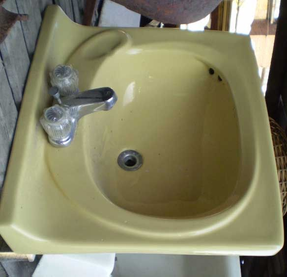 Bathroom Sink Yellow 50 best sink sank sunk images on pinterest | retro bathrooms, wall