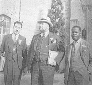 "Alpha Phi Alpha Fraternity, Inc.  One of the founder's ""Jewel"" Brother Vertner Woodson Tandy (center) in 1937 at APA General Convention in New Orleans, LA."