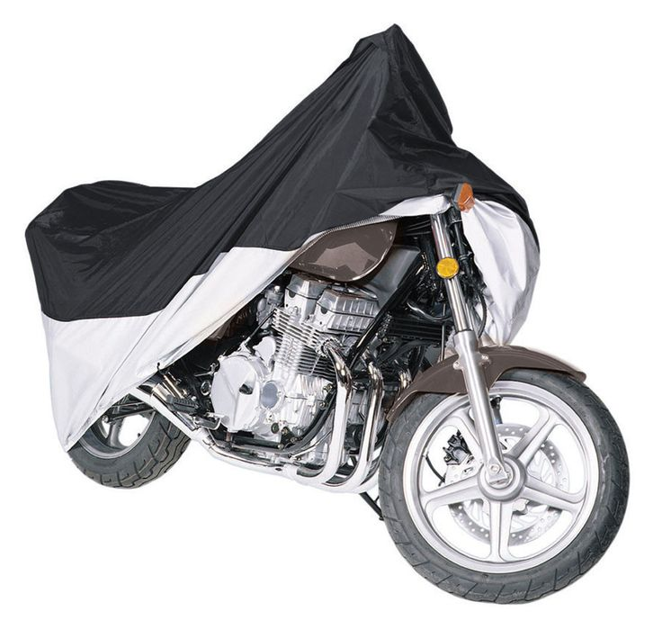 Pyle Motorcycle Cover up to 1500CC-Blue/Silver