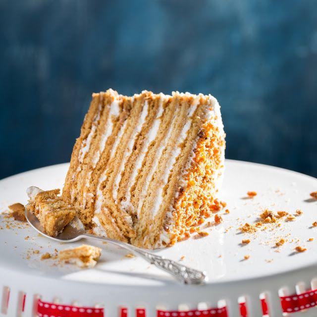 """Anybenyraba: торт """"Рыжик"""" со сметанным кремом"""