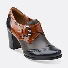 Ciera Tide Cognac Combi Leather - Clarks Womens Shoes - Womens Heels and Flats - Clarks - Clarks® Shoes