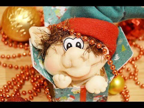 Делаем рождественского эльфа в чулочной технике - Ярмарка Мастеров - ручная работа, handmade