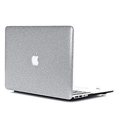 """Macbook Pro 13 Hülle, L2W Macbook Pro 13.3"""" Sparkly Serie Hartschale Schutzhülle für Neueste MacBook Pro 13 Zoll Modell A1706 / A1708 (mit oder ohne Touch Bar) (Release Okt 2016) - Silbrig"""