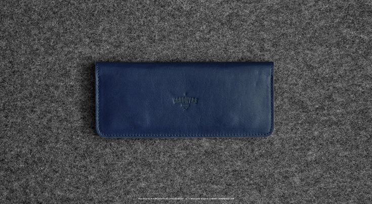 Leather Bifold Wallet for Men & Women - Spire in Blue #walletsforwomen