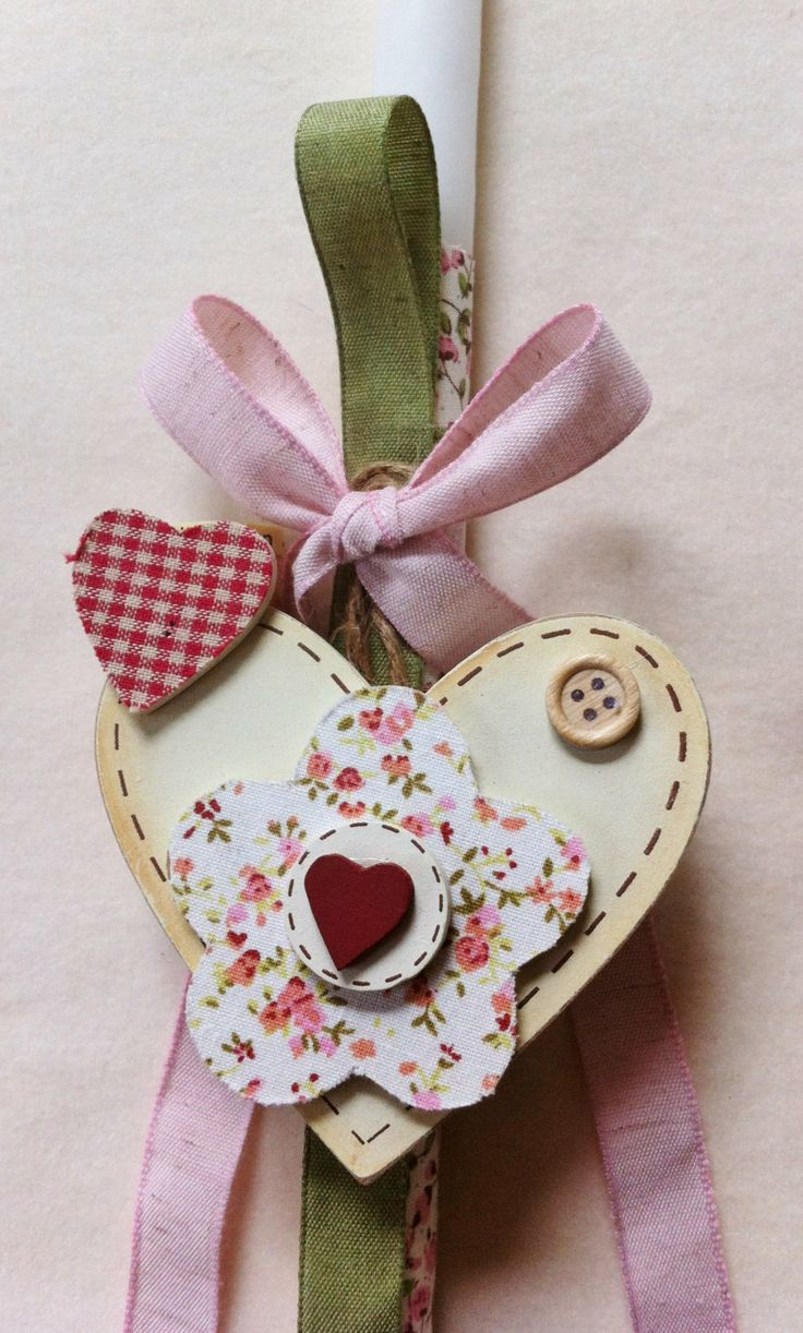 Orthodox Easter Candle Country Heart by marilous on Etsy, €19.00