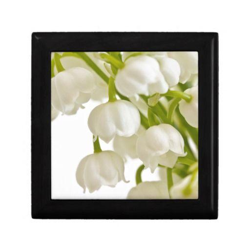 White Lilies Trinket Boxes