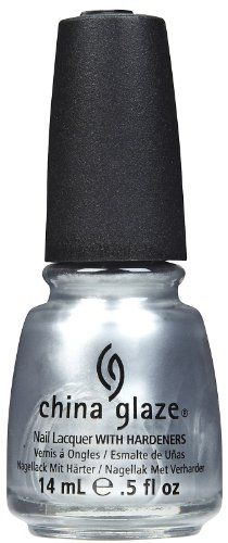 China Glaze Nail Polish, Platinum Silver, 0.5 Fluid Ounce