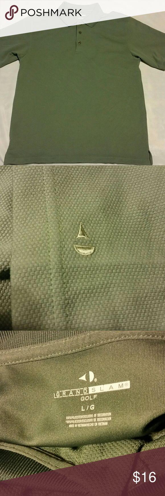 "Grand Slam Golf Polo style shirt Short Sleeved  Green golf skirt.  19"" across shoulders.  27"" topsail length.  17"" length under arm to hem.  21"" across chest.  Knit collar. grand slam  Shirts Polos"