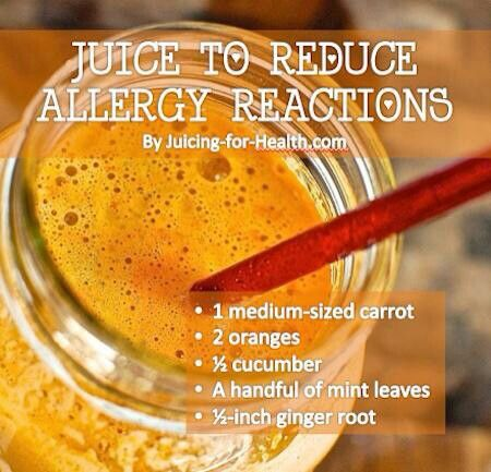 Reduce allergy reactions