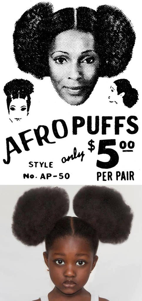 Afro Puffs. This little girl looks like my little cousin Zoi'!