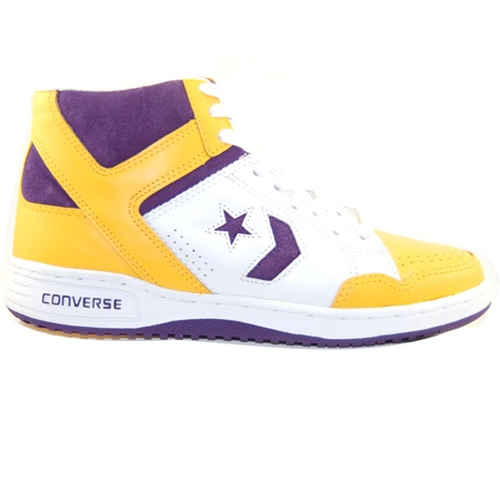... Converse Weapon 86 League HiLakers Edition- PurpleWhiteYellow ... 3fe9be11f