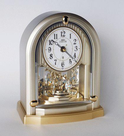 インテリアクロック/置き時計 スワロフスキーエレメント回転飾り
