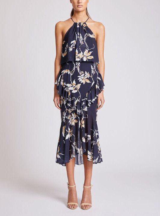 Shona Joy - Cross Frill Midi Dress