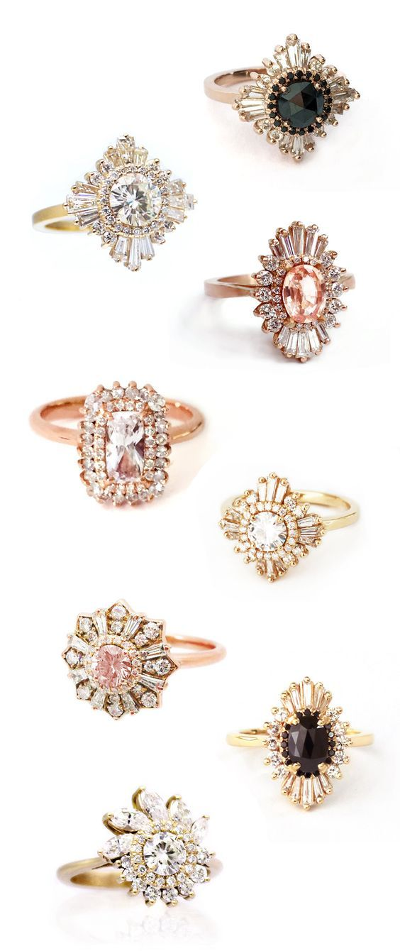 heidi gibson engagement and wedding rings / http://www.deerpearlflowers.com/floral-inspired-engagement-rings/