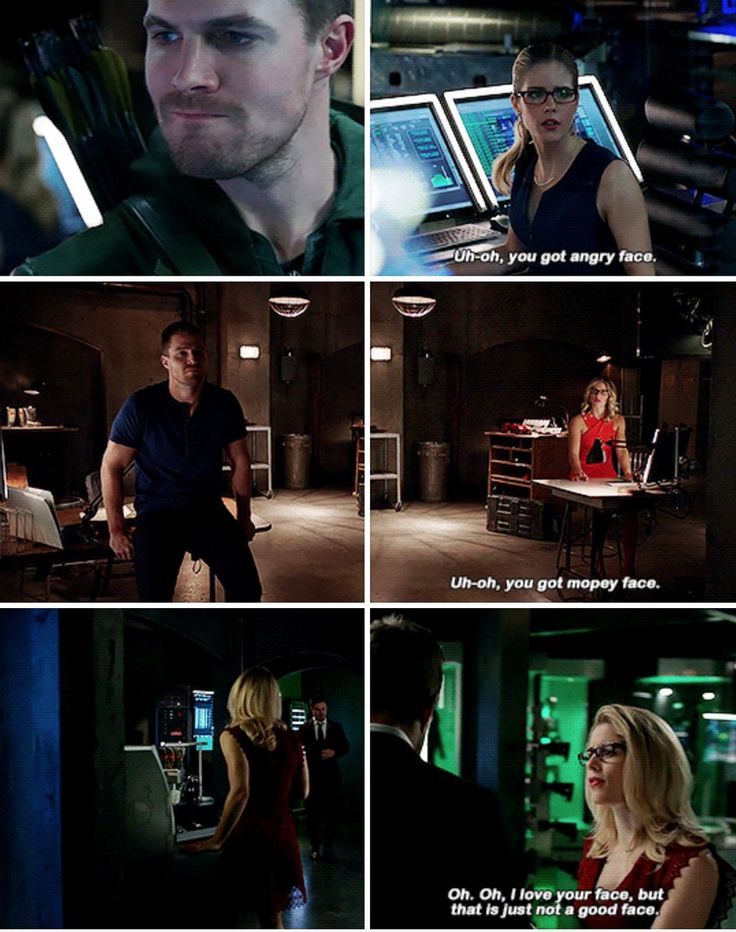 Felicity knows her mans facial expressions.