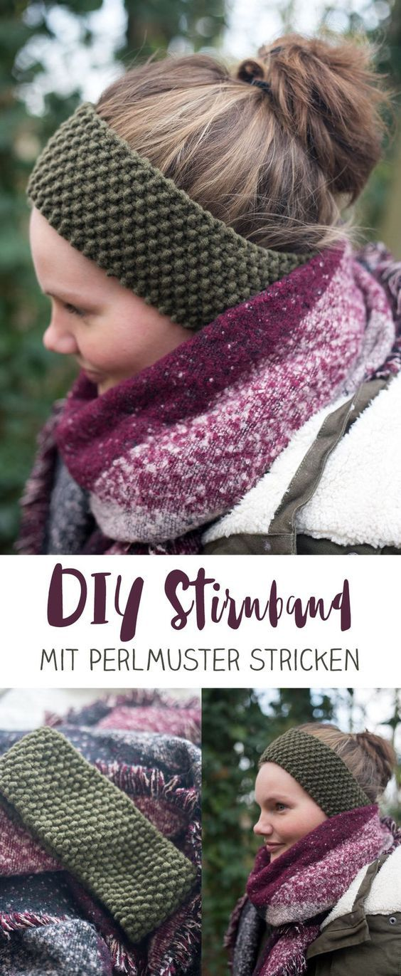 DIY Browband with Pear Knit – Small DIY Gift Idea