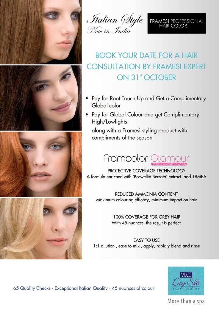 Alert : All you Glam dolls, please reach  Vasant Vihar and Safdarjung Enclave's  Day spa center on 31st October to know about our all new launch of hair coloring & styling solutions.