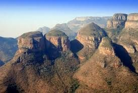 Three Rondawels. Blyde River Canyon, Eastern Transvaal, South Africa.