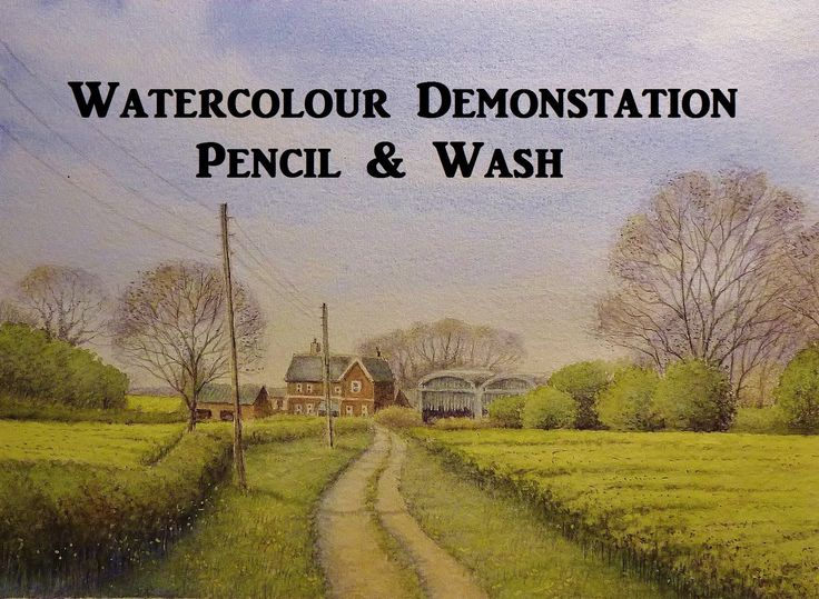 How to paint watercolour, Pencil and Wash Technique, Watercolour Landscape Painting Demo. A quick watercolour painting of a place where I often go for a walk...