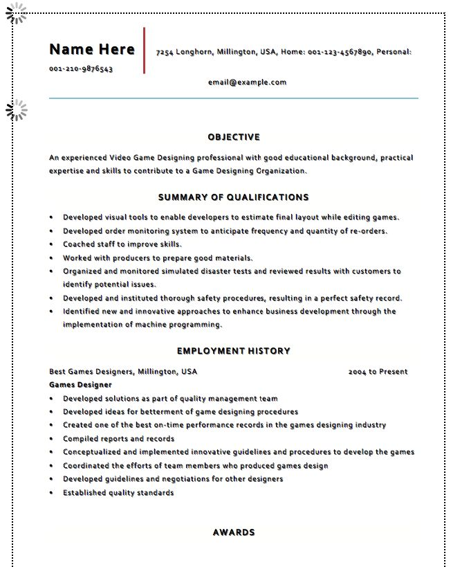 1902 Best Free Resume Sample Images On Pinterest | Free Resume