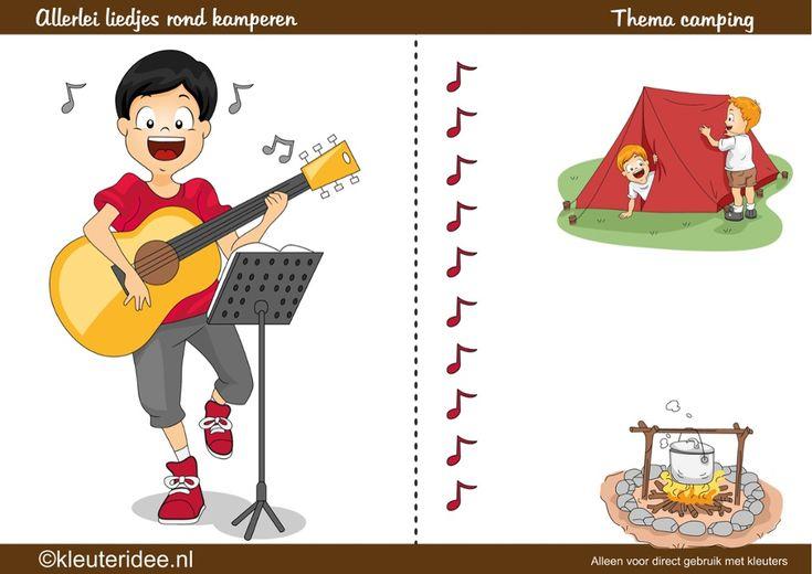 Heel veel liedjes rond het thema camping, kamperen ( interactieve lijst), by juf Petra, kleuteridee