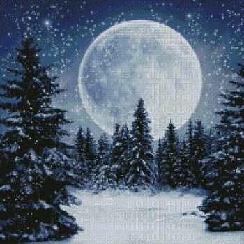 I love the moon in the winter! By Kustom Krafts.