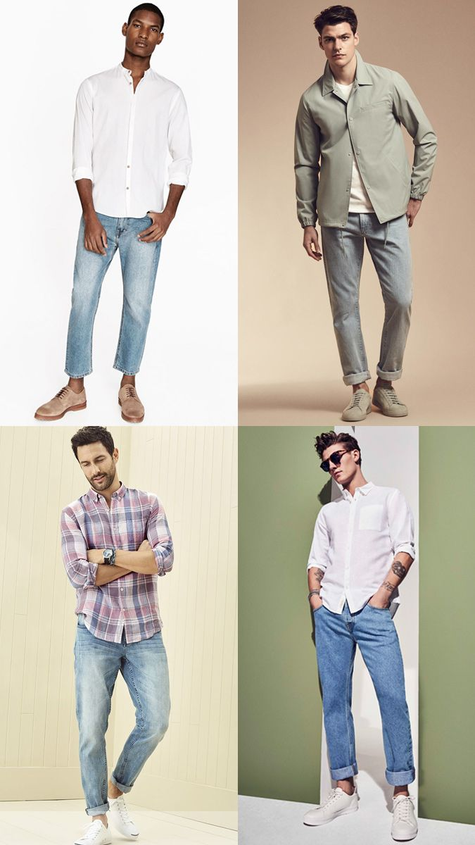 Wear to Trendshow the colored denim trend recommendations dress in spring in 2019
