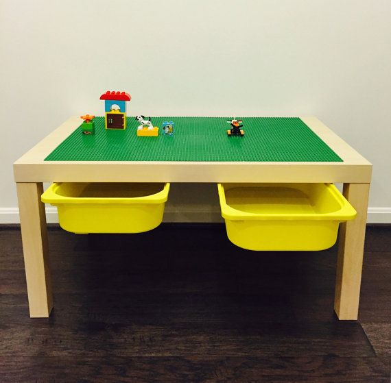 Large LEGO® Table With Storage by MandaCadabra on Etsy