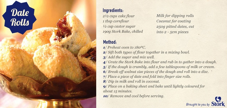 Try this scrumptious #recipe for Date Rolls!