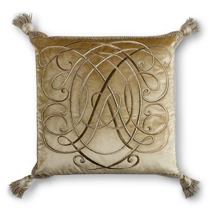 Anastasia hand embroidered couture cushion