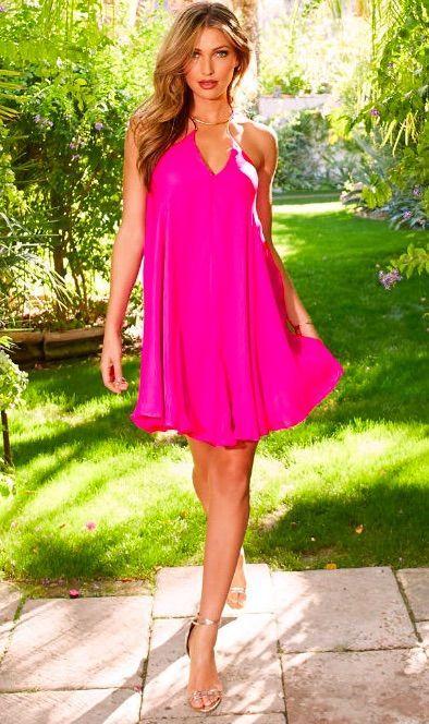 9ad904a06a4124 Rosa Kleid kombinieren  Welche Schuhe passen zu rosa Kleid
